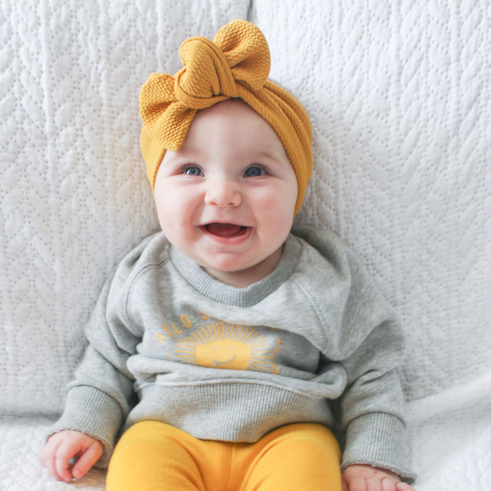 Baby with Yellow Headband